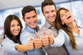 Business group with thumbs up Business group with thumbs up — Stock Photo