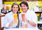Couple at the diner Couple at the diner — Stock Photo