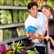 Stock Photo: Family buying healthy food Family buying healthy food