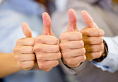 Thumbs up Thumbs up — Stock Photo