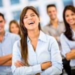 Happy business group Happy business group — Stock Photo