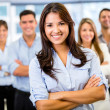Businesswoman leading a team Businesswoman leading a team — Stock Photo #20891457