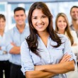 Стоковое фото: Businesswoman leading a team Businesswoman leading a team