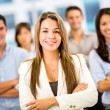 Businesswoman with a group Businesswoman with a group — Stock Photo
