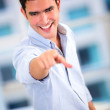 Business man pointing Business man pointing - Foto Stock