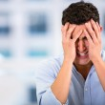 Business man with a headache Business man with a headache — Stock Photo