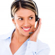 Friendly customer support operator Friendly customer support operator — Stock Photo