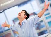 Sukcesy biznesmen człowiek udanego biznesu — Zdjęcie stockowe