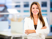 Confident business woman Confident business woman — Stock Photo