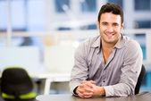 Empresario guapo hombre atractivo negocio — Foto de Stock