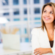 Pensive business woman Pensive business woman — Stock Photo