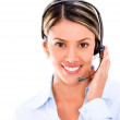 Stock Photo: Telemarketing agent with headset Telemarketing agent with headset
