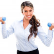 Businesswoman in an active pause Businesswoman in an active pause — Stock Photo #21011195