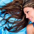 Foto Stock: Womwith beautiful hair Womwith beautiful hair