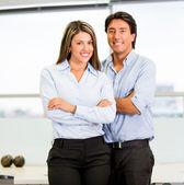 Happy business couple Happy business couple — Stock Photo
