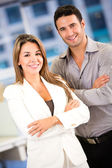 Business couple at the office Business couple at the office — Stock Photo