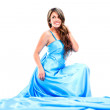 Stock Photo: Woman in a long dress Woman in a long dress