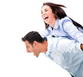 Excited couple Excited couple — Stock Photo