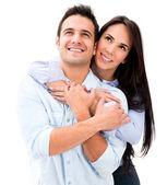Casal atencioso atencioso casal — Foto Stock