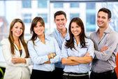 šťastný obchodní tým happy obchodní tým — Stock fotografie
