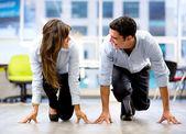 Par de negocio competitivo negocio competitivo par — Foto de Stock