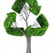3D recycling tree  — Stock Photo