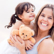 Foto Stock: Mother and daughter portrait