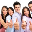 Group of with thumbs up. — Stock Photo