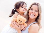 Dcera a matka portrét — Stock fotografie