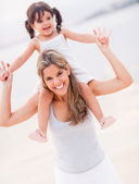Beautiful mother and daughter. — Stock Photo