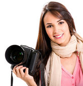 Female photographer — Photo