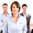 Business woman with her team. - Stock Photo
