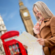 Woman traveling to London - Stock Photo