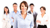 Business woman with her team. — Stock Photo