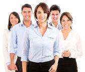 Happy business team. — Stock Photo