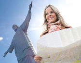 Woman traveling to Rio — Stock Photo