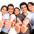 Business team with thumbs up. — Stock Photo #22288917