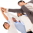 Stock Photo: Business high five.