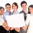 Business group with a document. - Stock Photo