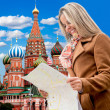 Woman in Moscow — Stockfoto