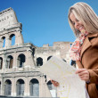Tourist in Rome — Stock Photo