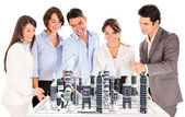 Architects with a modern project. — Stock Photo