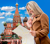 Woman in Moscow — Stock Photo