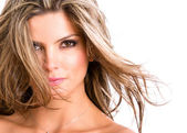 Woman with beautiful hair. — Stock Photo