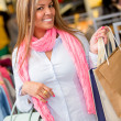 Happy shopping woman - Stock Photo