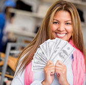 Rich shopping woman — Stock Photo