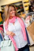 幸せショッピング女性 — ストック写真