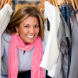 Happy female shopping - Stock Photo