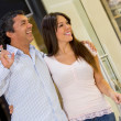 Couple at the shopping center - Foto Stock
