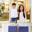 Happy shopping kids - Stok fotoraf